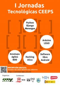 Cartel I Jornadas Tecnológicas CEEPS