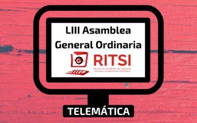 LIII Asamblea General Ordinaria RITSI (Telemática)